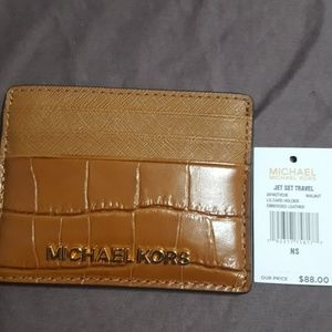 248ee6276f6d MICHAEL Michael Kors Bags - MK walnut card holder and ID REDUCED